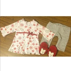 American Girl Coconut PJs and slippers